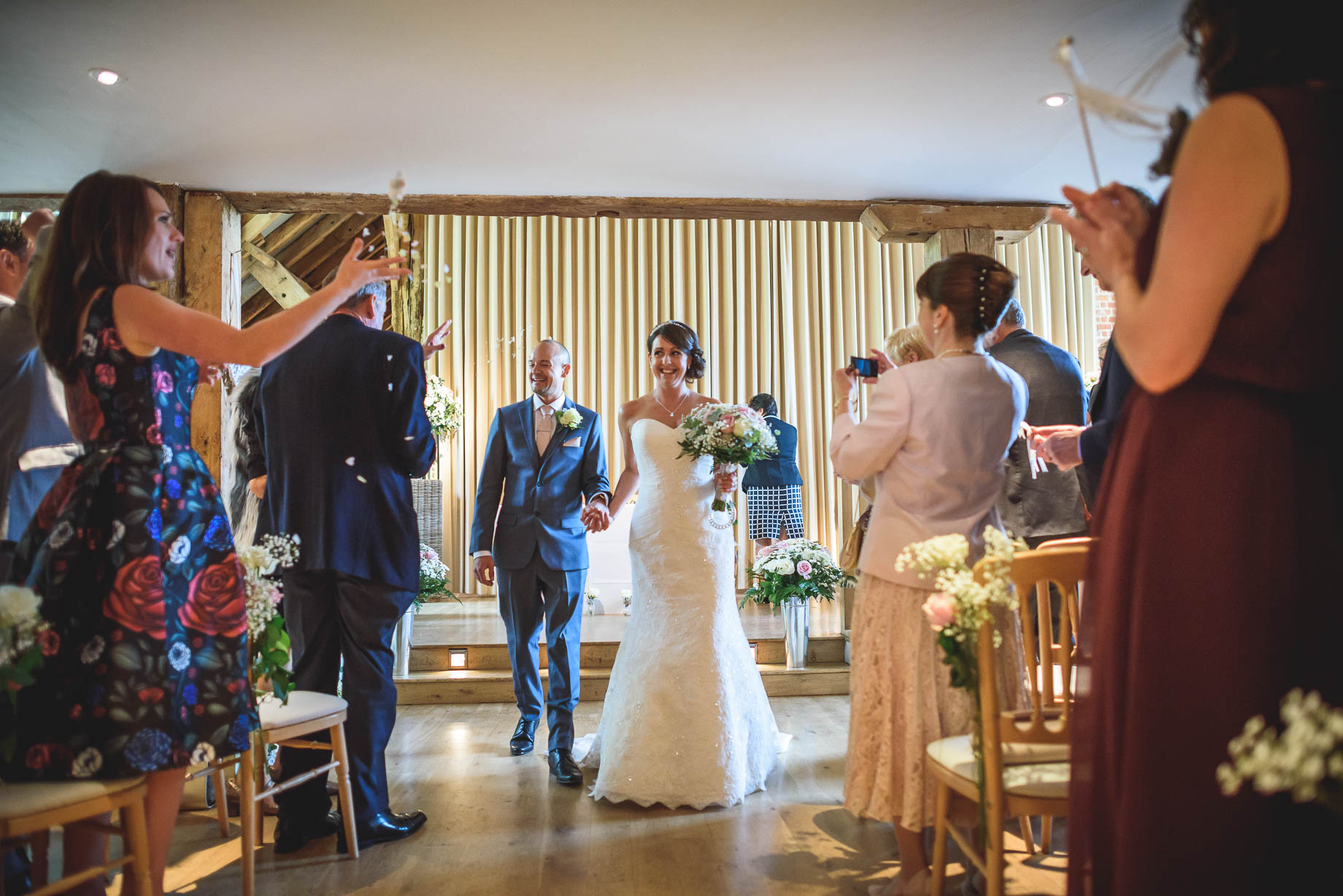 Bury Court Barn wedding photography - Guy Collier Photography - Karen and John (63 of 166)