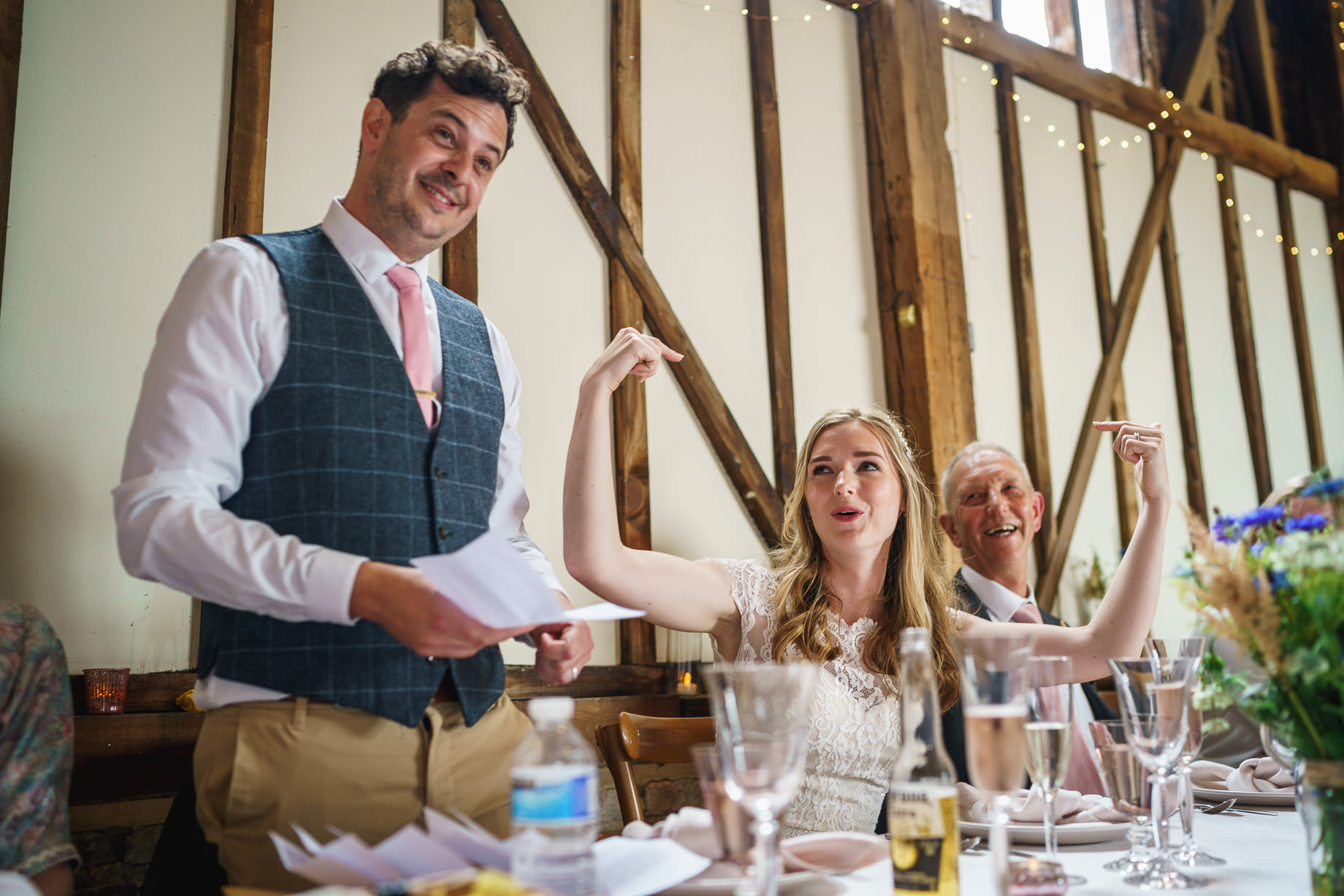 Bonhams Barn wedding photography - Ellen + Adam