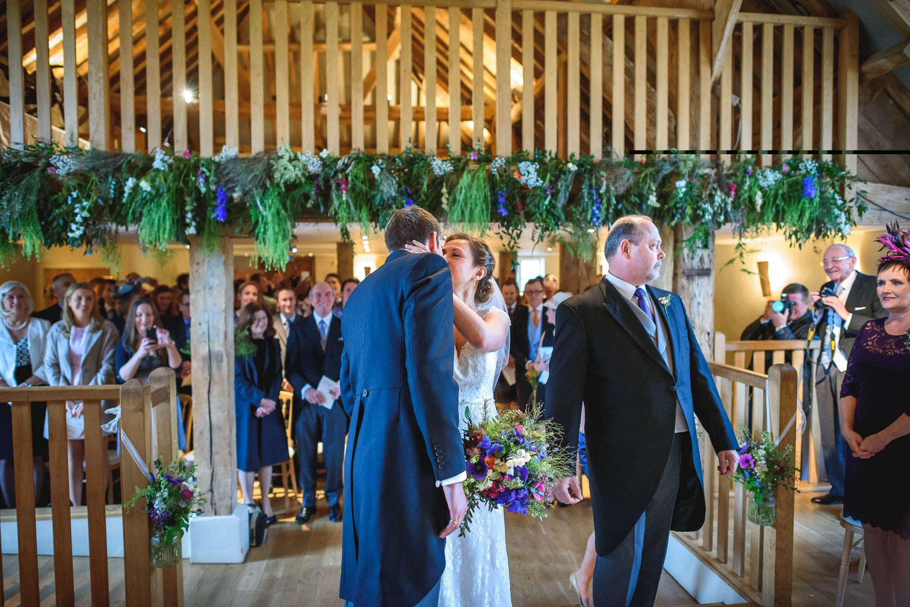 Bury Court Barn wedding photography - Ashley and Henry by Guy Collier Photography (42 of 188)