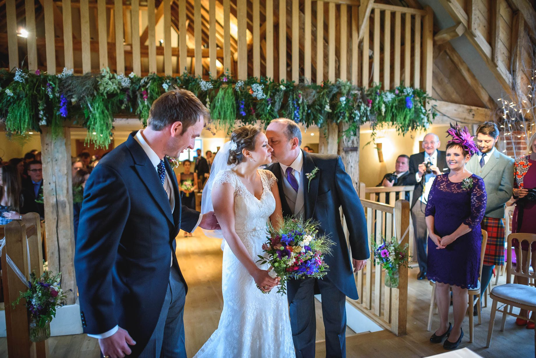 Bury Court Barn wedding photography - Ashley and Henry by Guy Collier Photography (43 of 188)