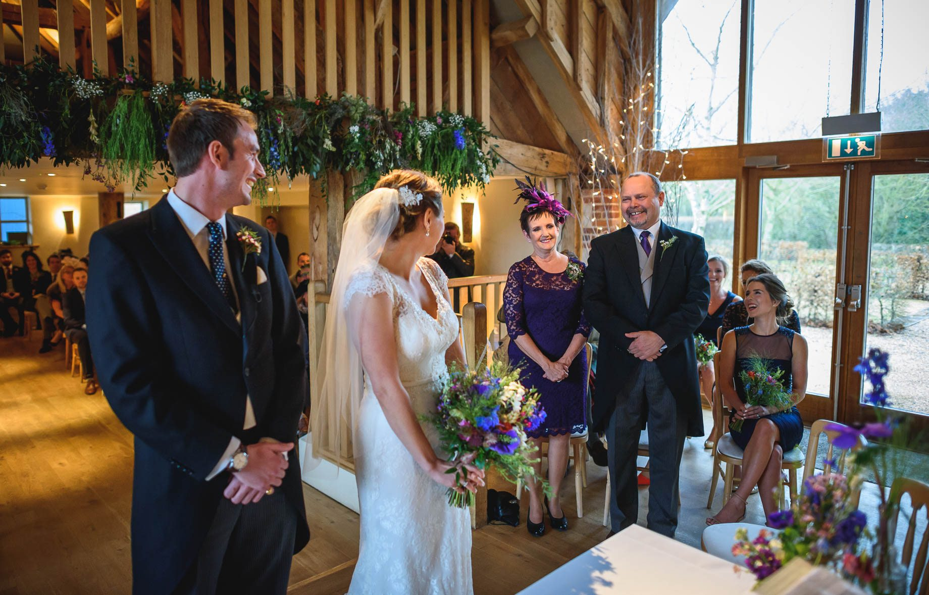 Bury Court Barn wedding photography - Ashley and Henry by Guy Collier Photography (45 of 188)