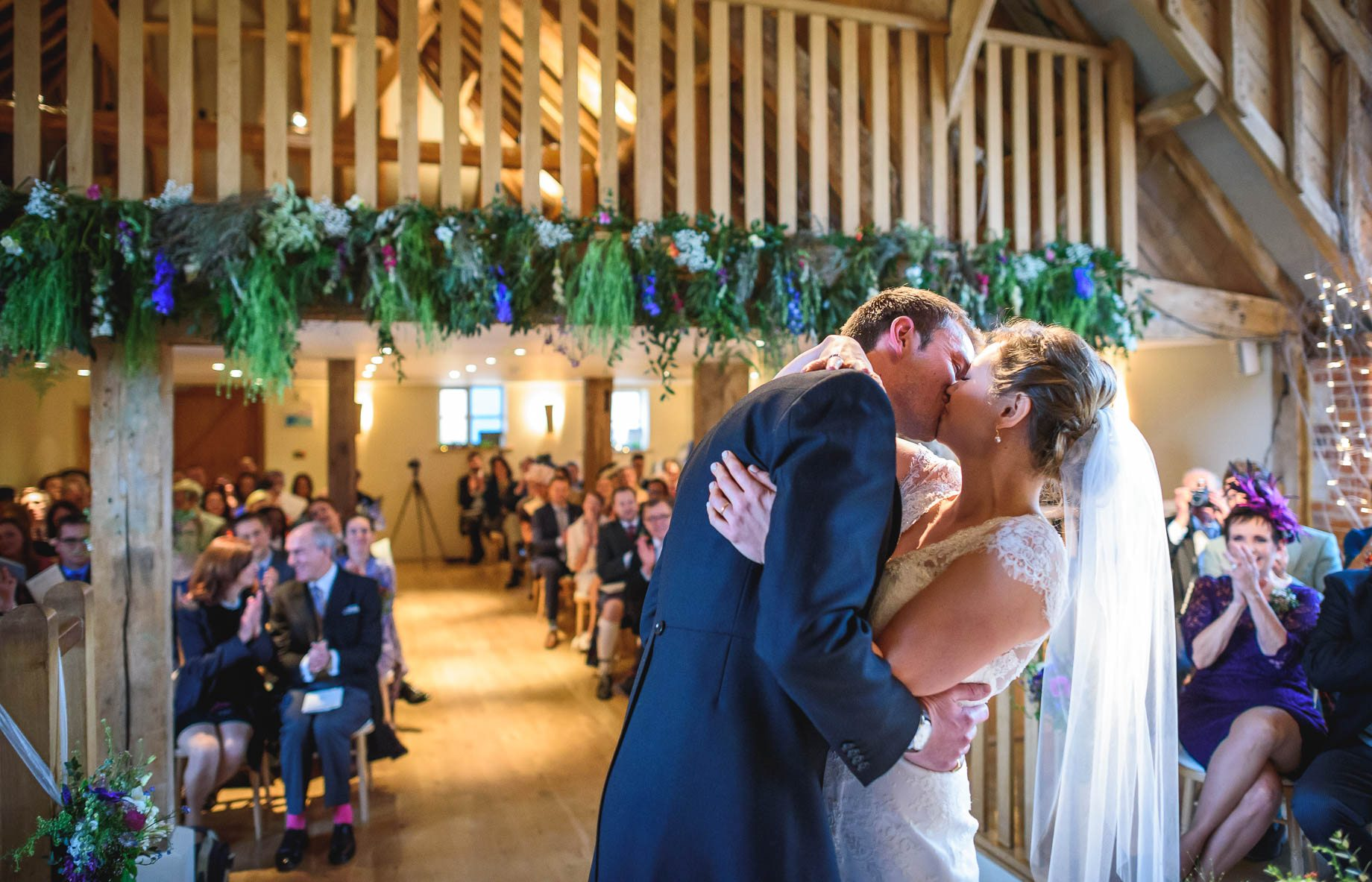 Bury Court Barn wedding photography - Ashley and Henry by Guy Collier Photography (54 of 188)
