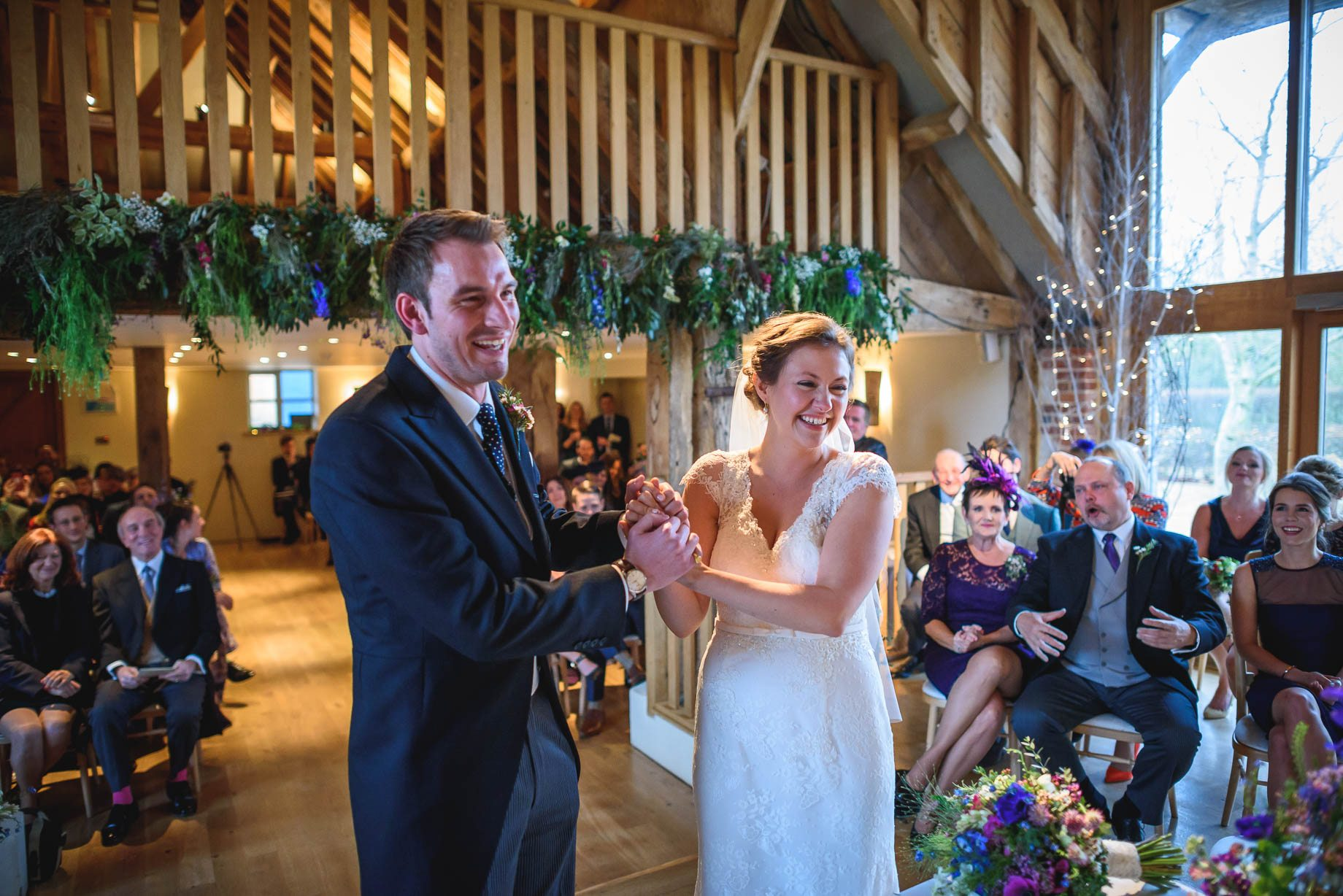 Bury Court Barn wedding photography - Ashley and Henry by Guy Collier Photography (56 of 188)