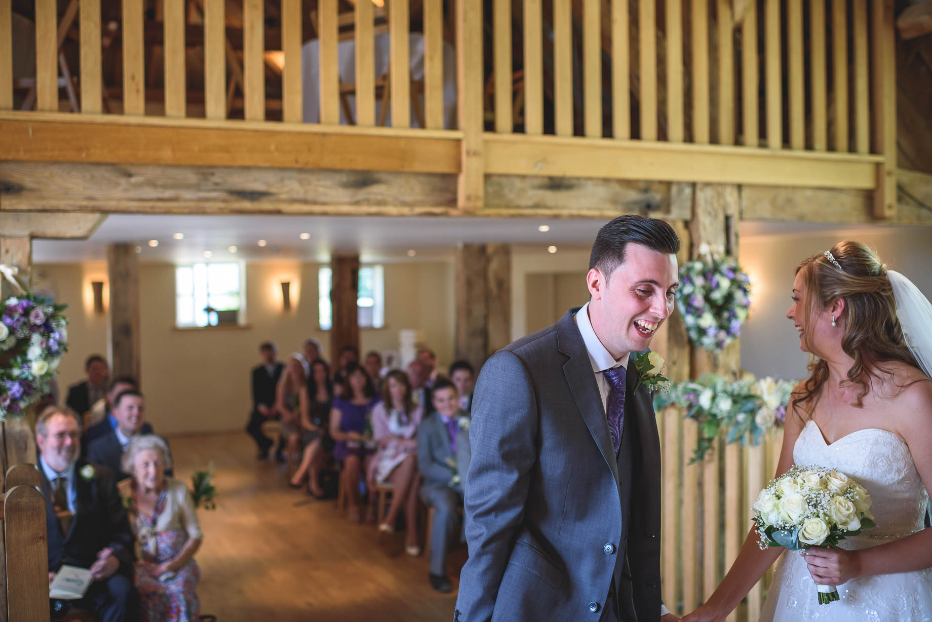 Bury Court Barn wedding photography - Guy Collier - Kirsty and Lewis (56 of 150)