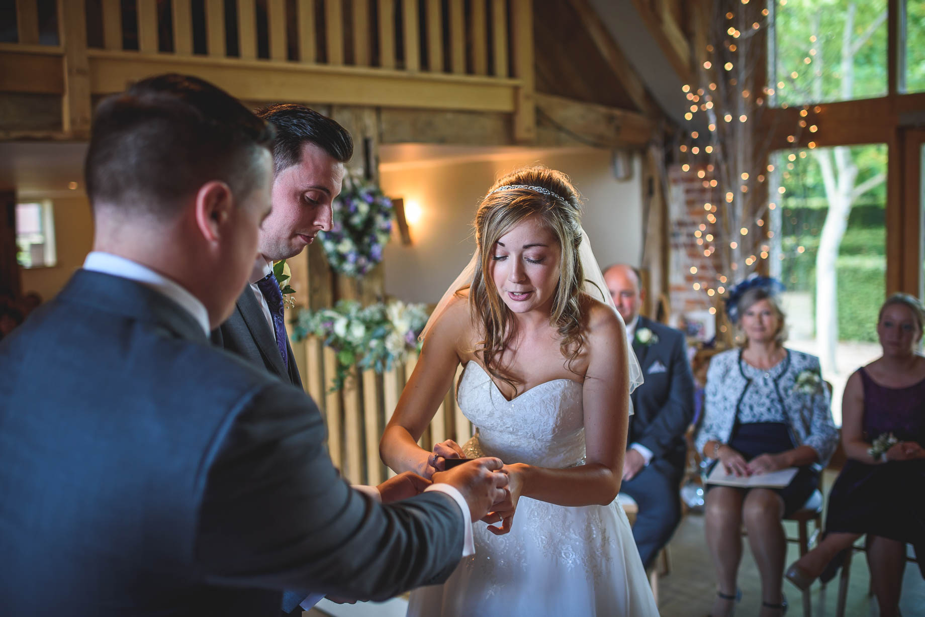 Bury Court Barn wedding photography - Guy Collier - Kirsty and Lewis (62 of 150)