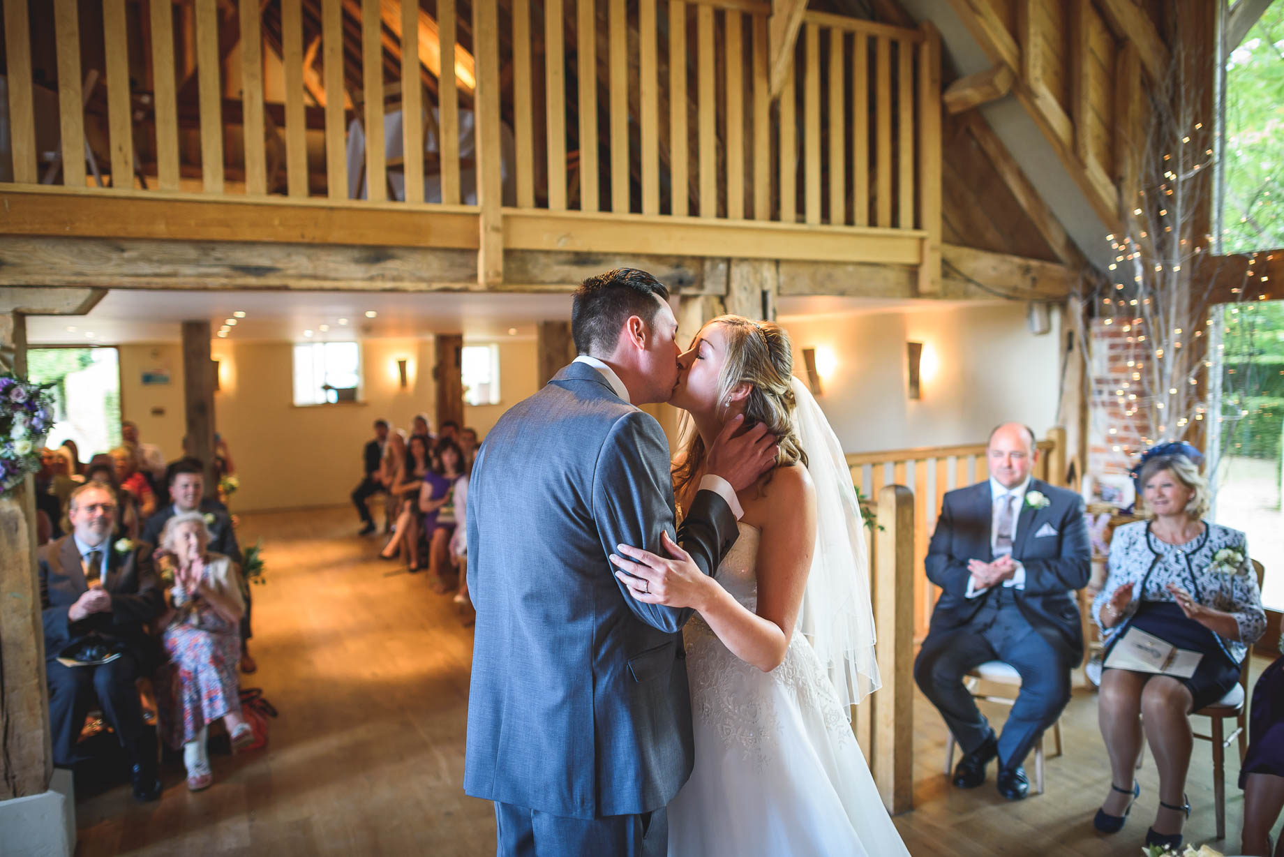 Bury Court Barn wedding photography - Guy Collier - Kirsty and Lewis (64 of 150)