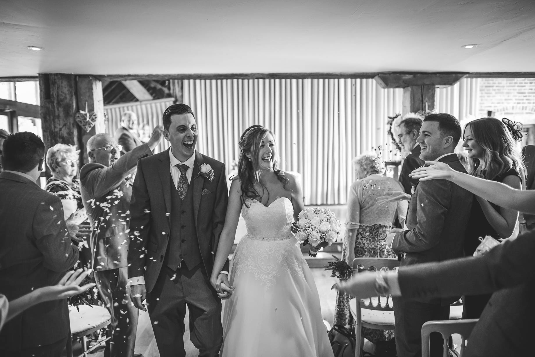 Bury Court Barn wedding photography - Guy Collier - Kirsty and Lewis (67 of 150)