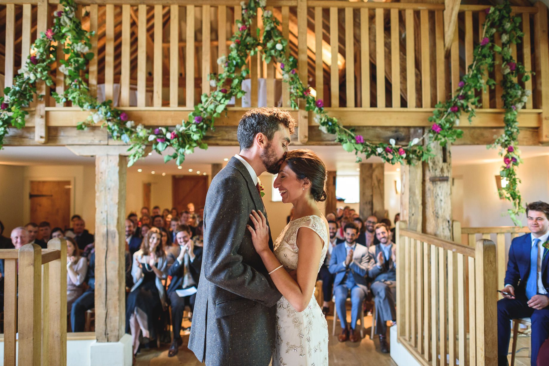 Bury Court Barn wedding photography - Nadia + Tom