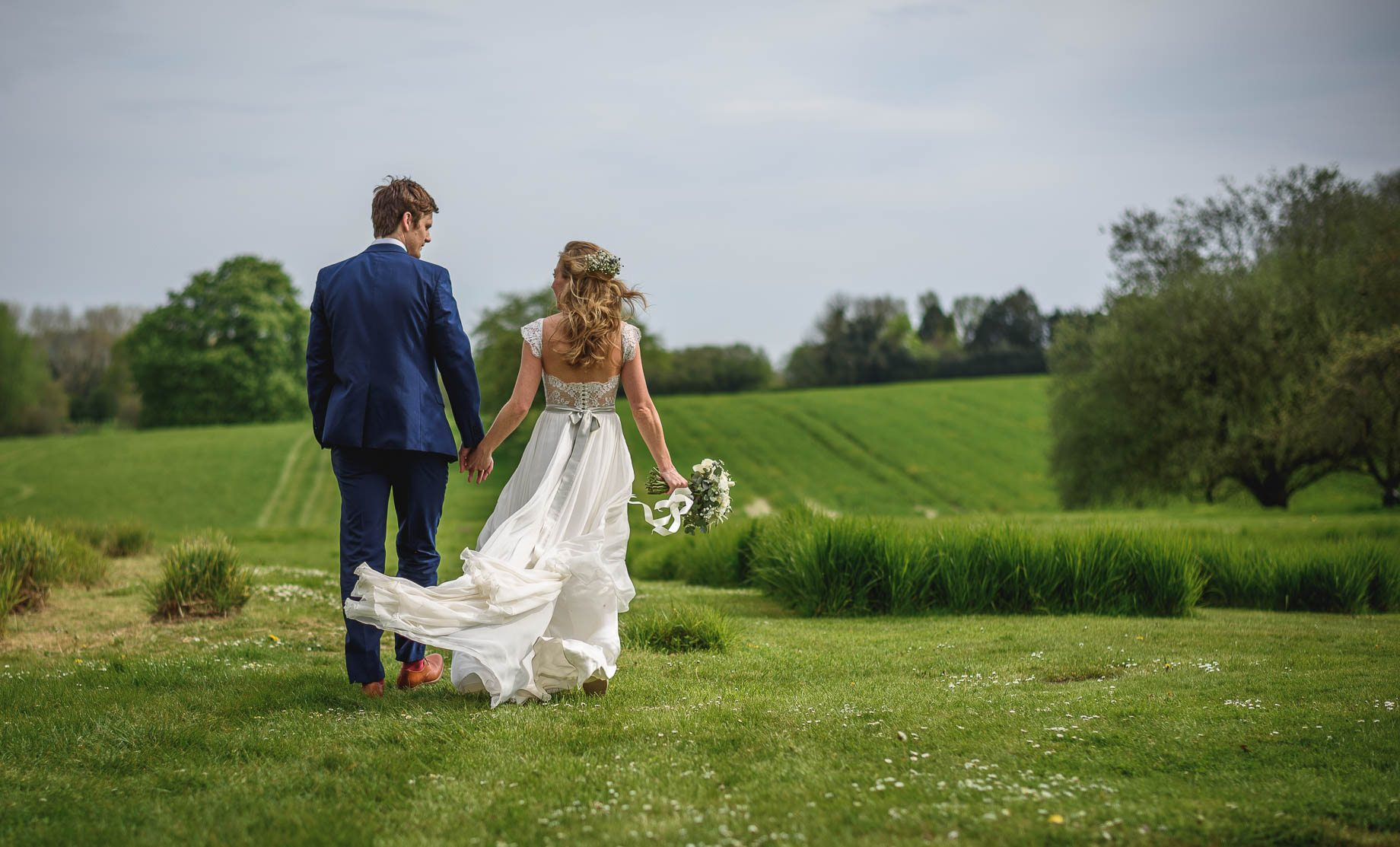 Bury Court Barn wedding photography - Heather + Pat
