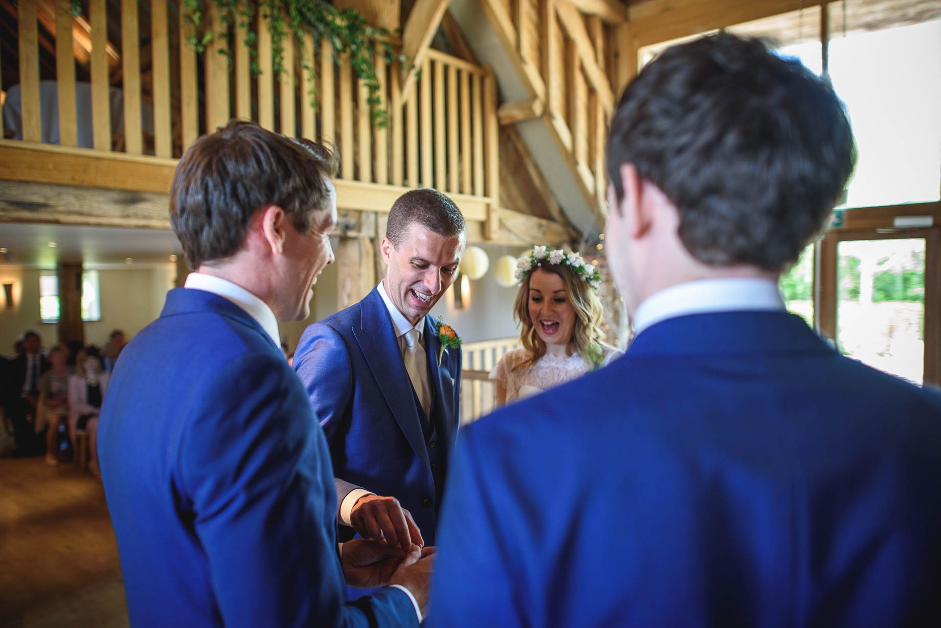 Bury Court Barn wedding photography by Guy Collier - Jo and Jamie (59 of 160)