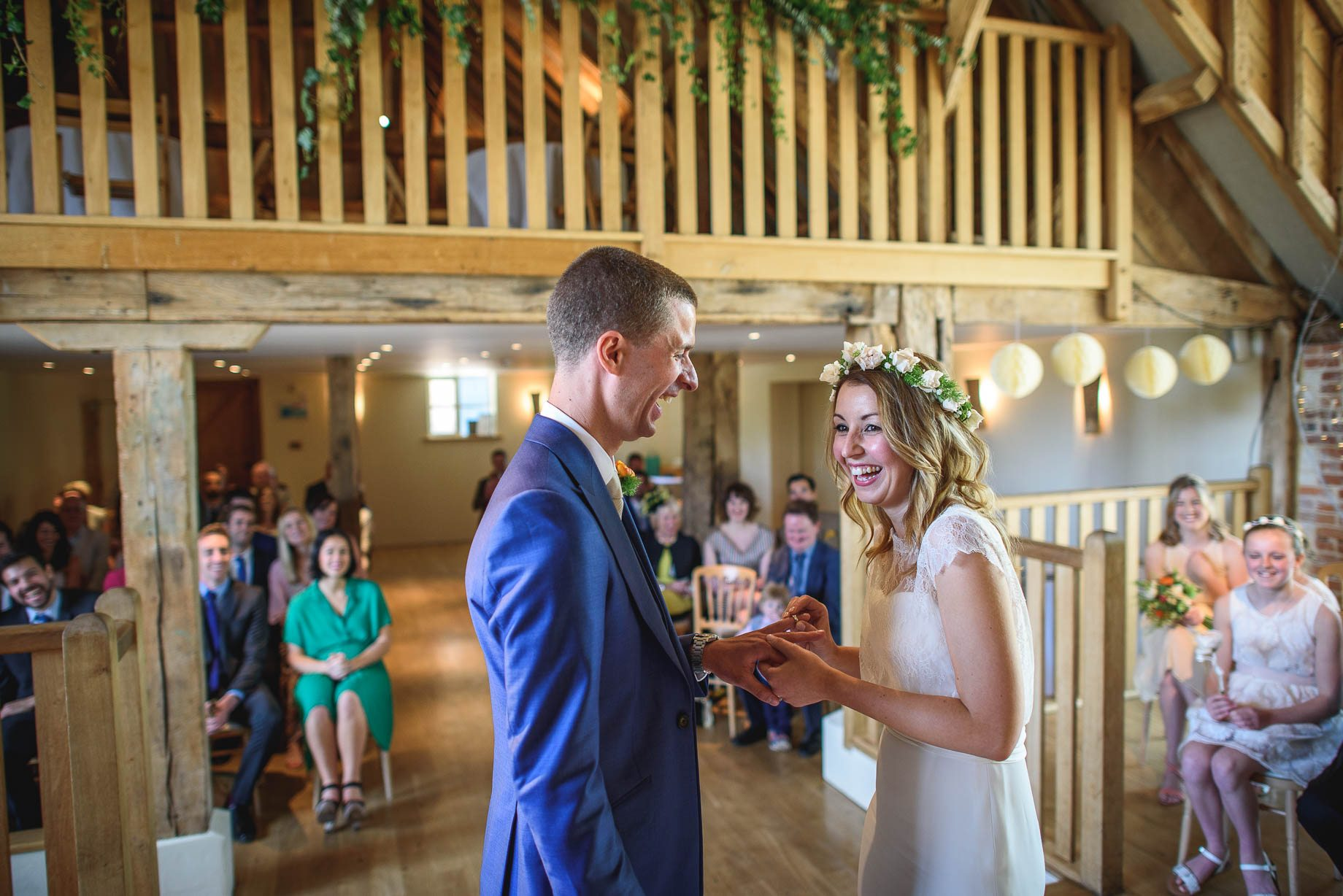 The Barn at Bury Court wedding photography - Jo + Jamie