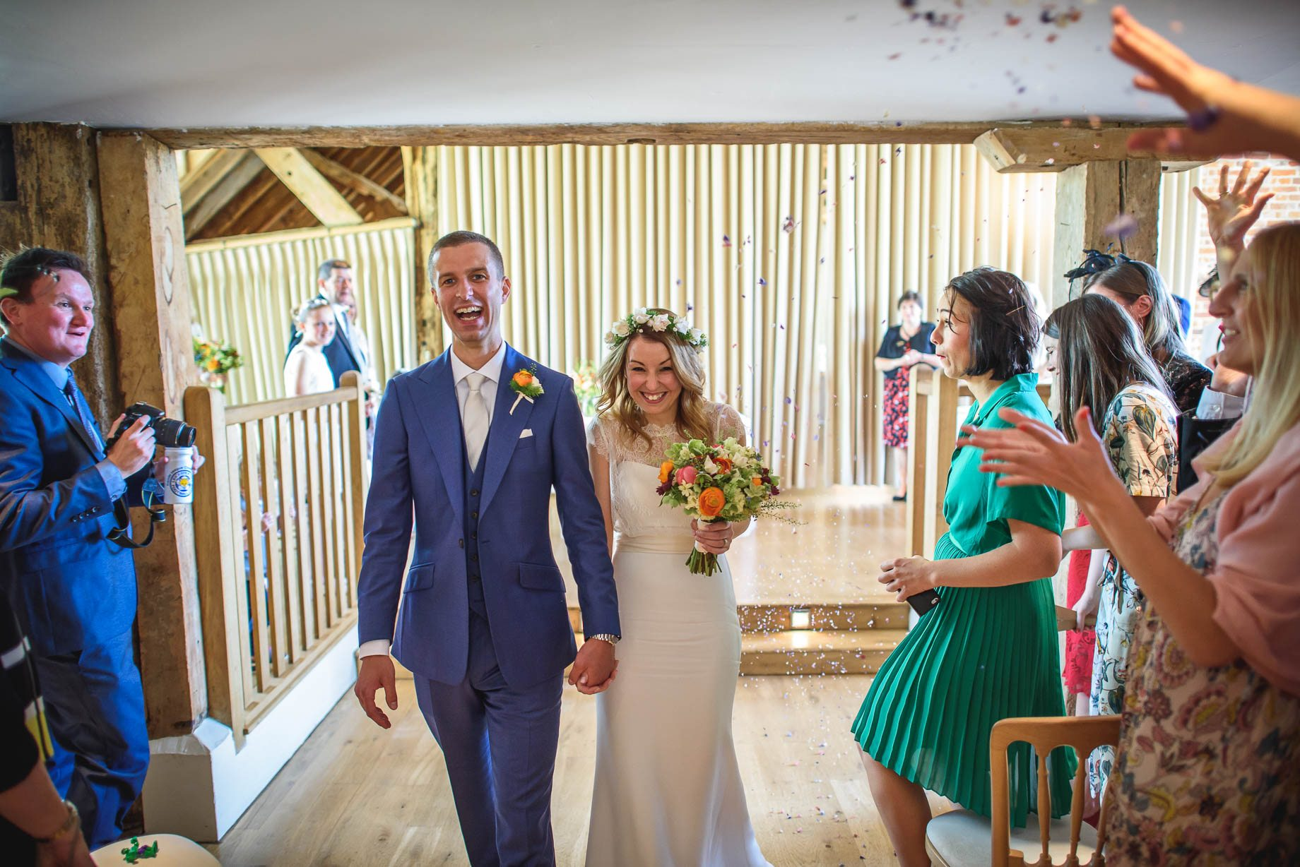 Bury Court Barn wedding photography by Guy Collier - Jo and Jamie (64 of 160)