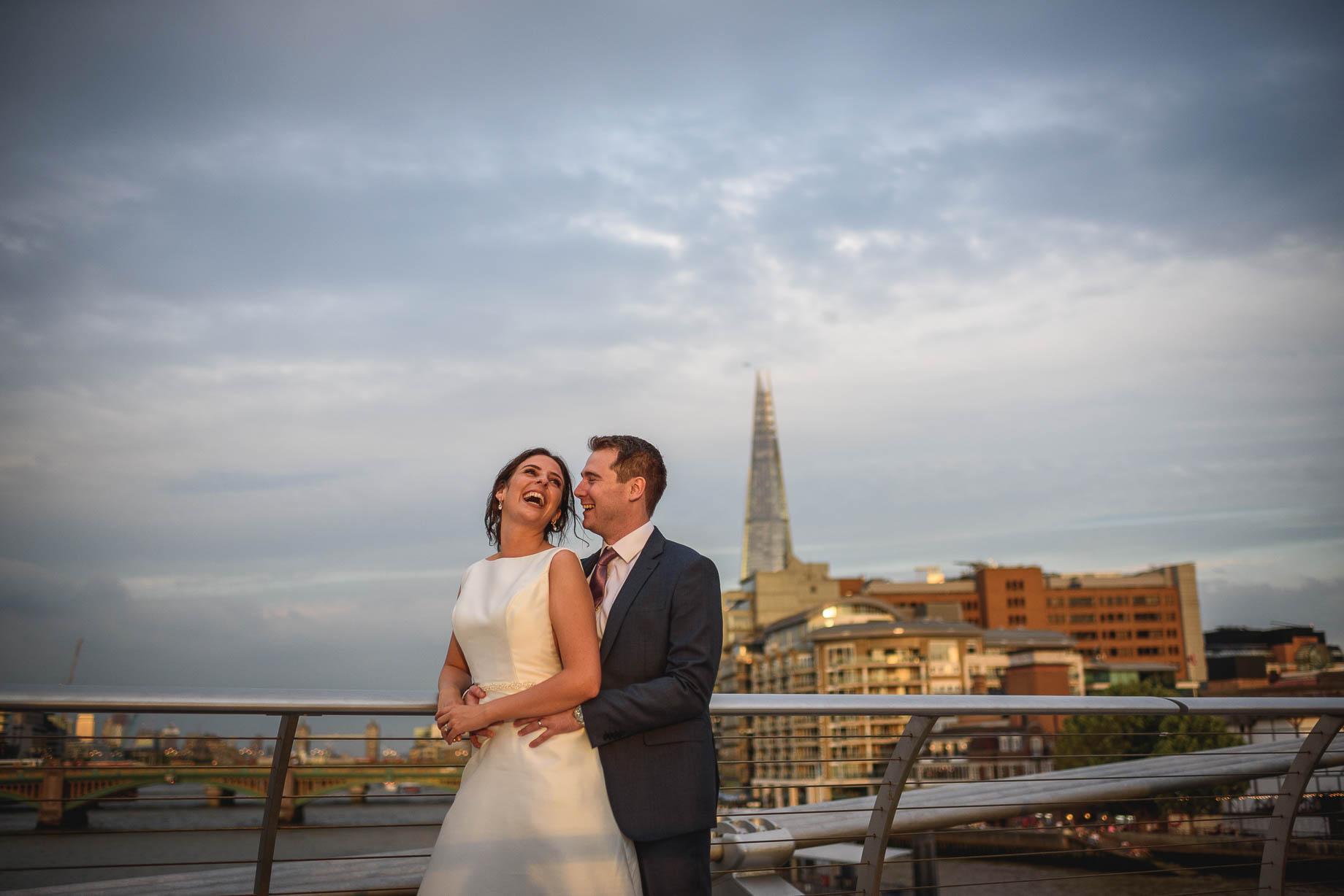 London wedding photography at The Globe - Conac + Conor