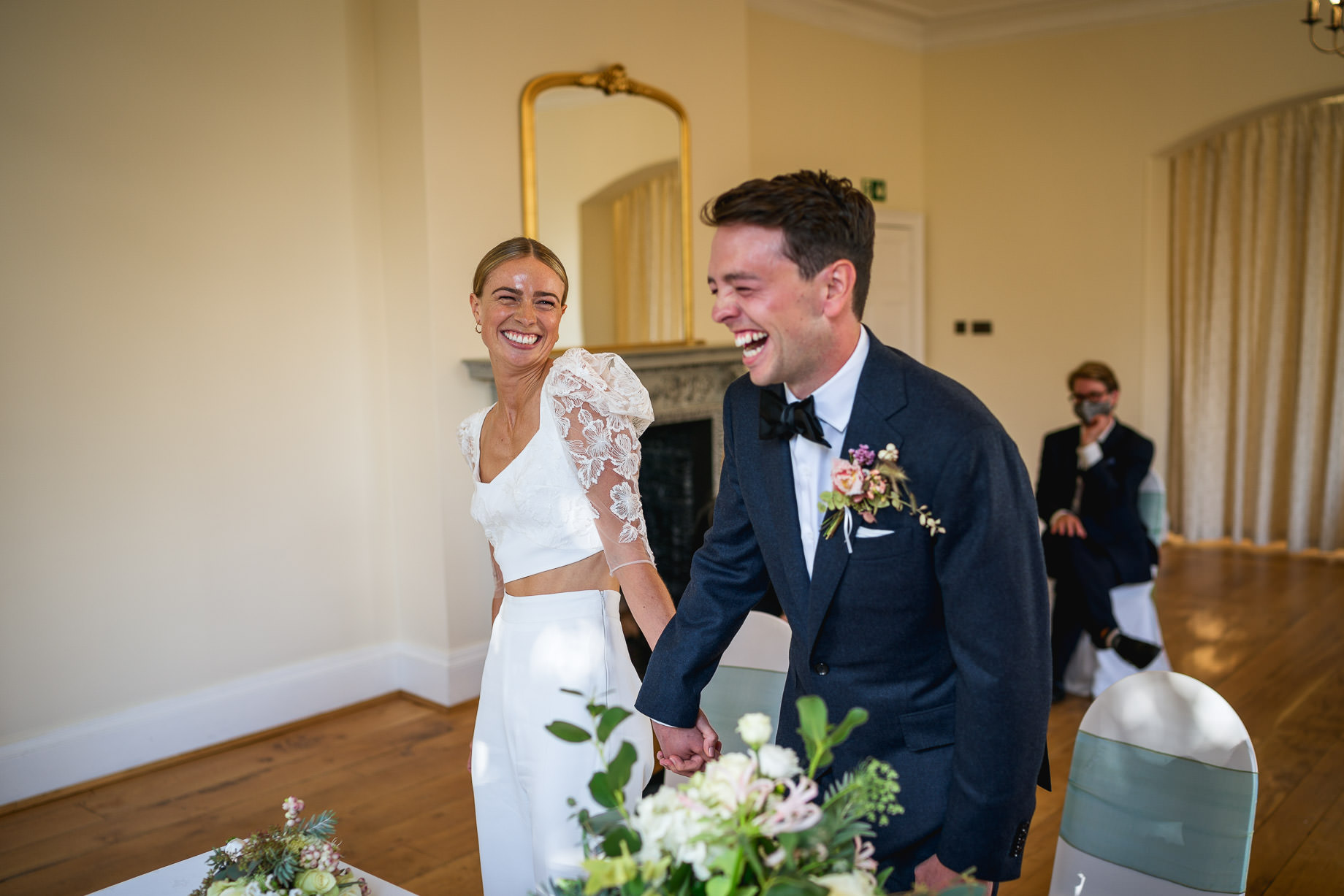 Micro wedding photography – Emily + Cam at Pembroke Lodge