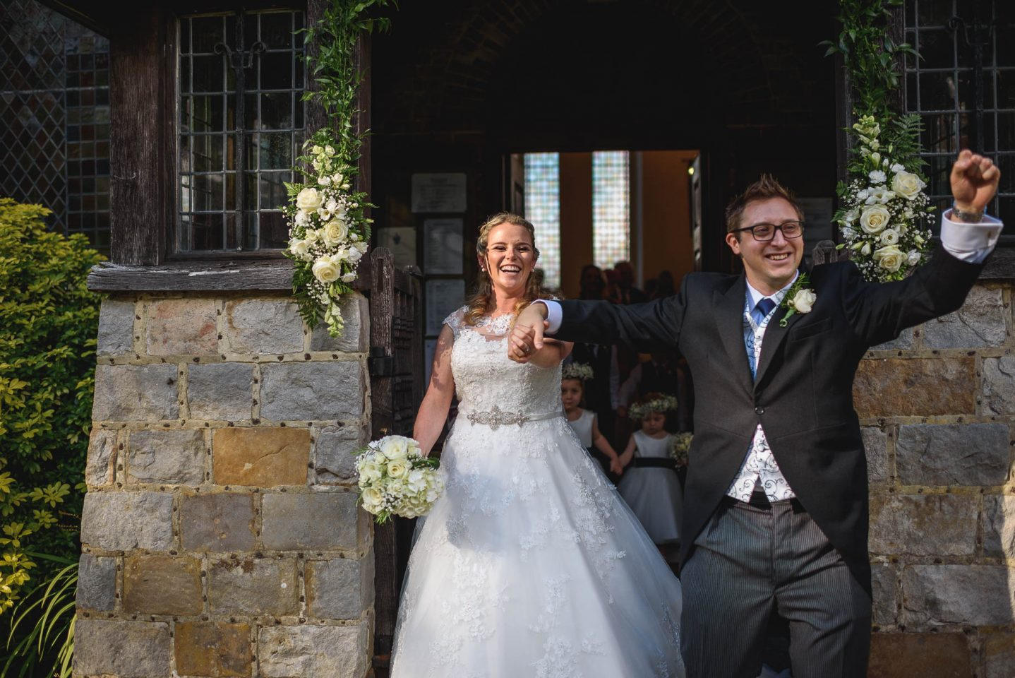 Surrey wedding photography in Pirbright by Guy Collier