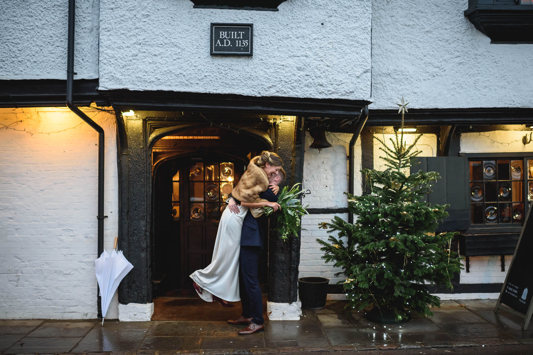 The Olde Bell wedding photography - Karen + Ed's winter wedding