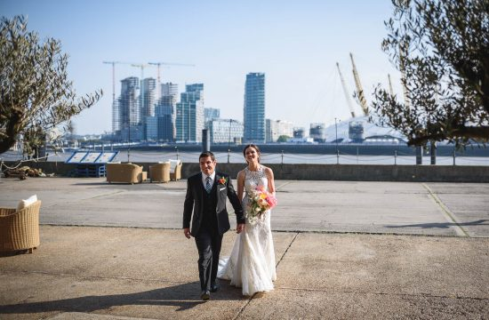 Trinity Buoy Wharf wedding photography - Caroline and Adrian